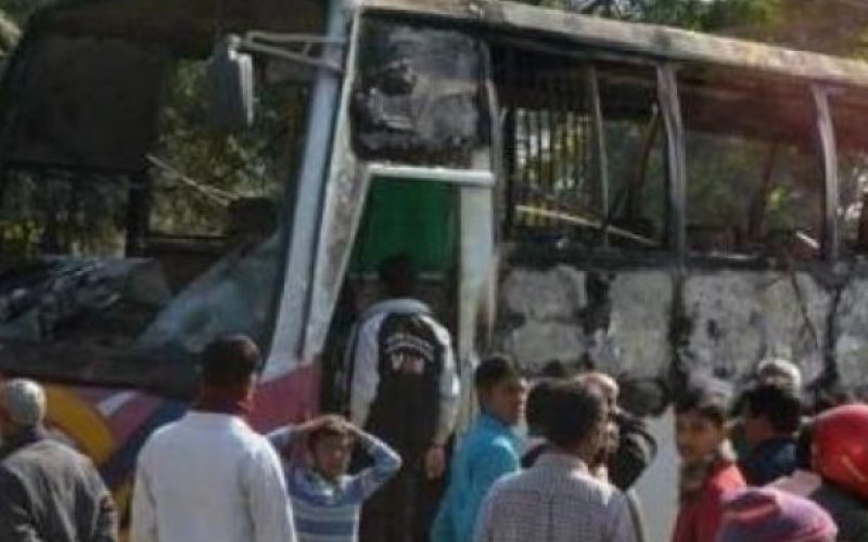 Seven burnt to death after bus firebombed in Bangladesh