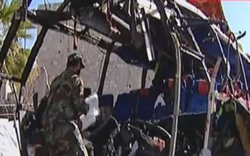 Terrorist Bomb Targets Bus in Damascus, Claims 6 Lebanese Martyrs, 22 Injured