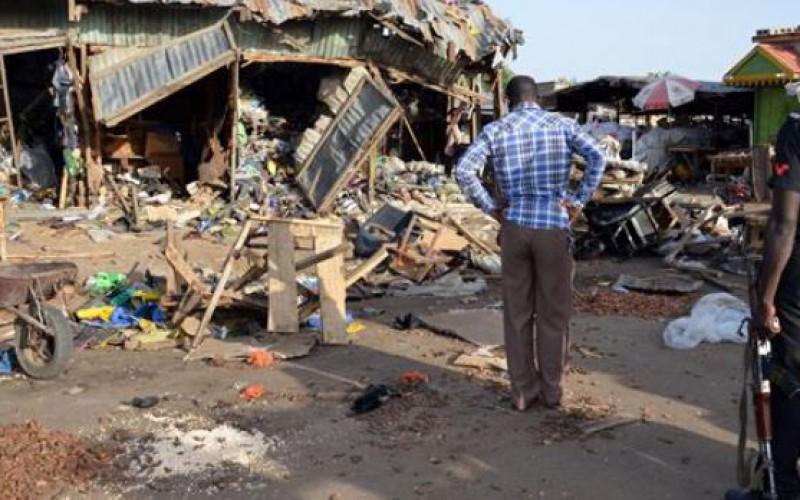 2 explosions leave 13 dead in northeast Nigeria