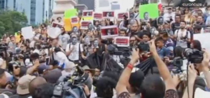 Journalists in Mexico rally over press intimidation after photographer murder