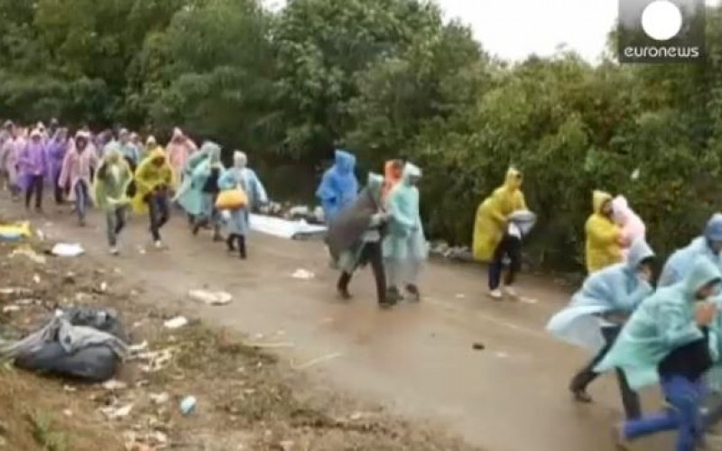 Migrants: Croatia says no need to close border, 73,500 men, women and children have arrived on the border in the last 11 days alone -video