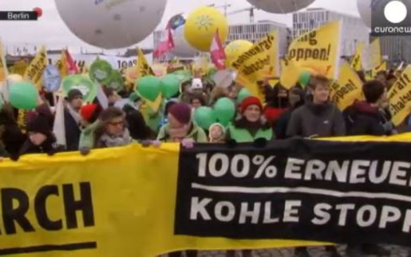 cop21: 'Save our planet' say demonstrators worldwide on eve of UN climate summit