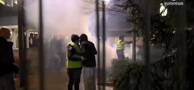 Dutch riot over plans for a refugee centre- video