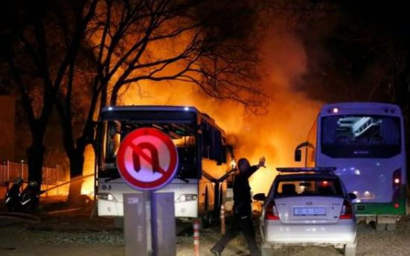 Turkish: at least 28 dead as car bomb targets military in Ankara