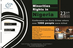 Minorities Rights in Nigeria, Conference on Zaria Crime where over 1000 people were killed