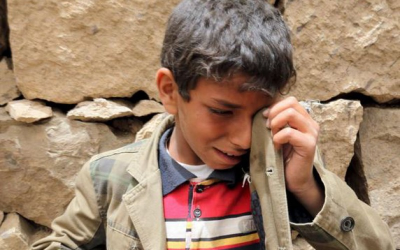 """For UN, children continued to pay a heavy price in war, """"In Yemen, six times more children were killed and mutilated in 2015 than the previous year"""""""