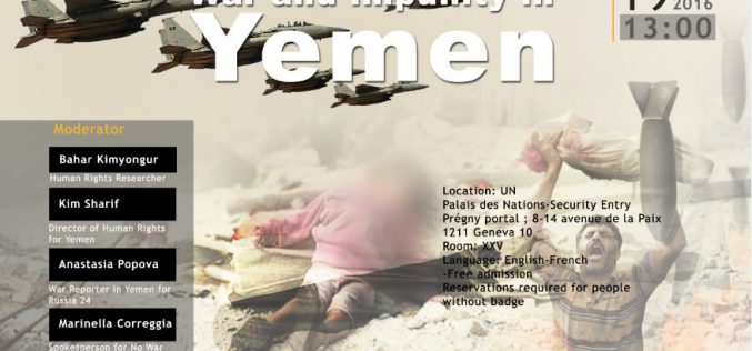War and impunity in Yemen 19 sebtember 2016