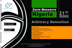 Nigeria: Zaria Massacre (Arbitrary Detention)  21 September 2016