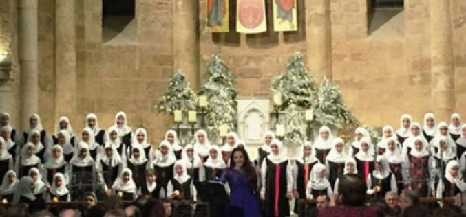 Lebanon: Shia women's choir singing Christmas in a church
