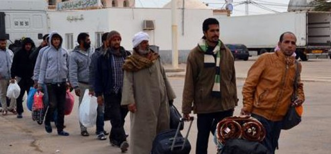 192 Egyptians flee Libya through Tunisia amid rising ISIL threat