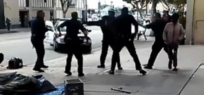 Police brutally kill homeless man in Los Angeles