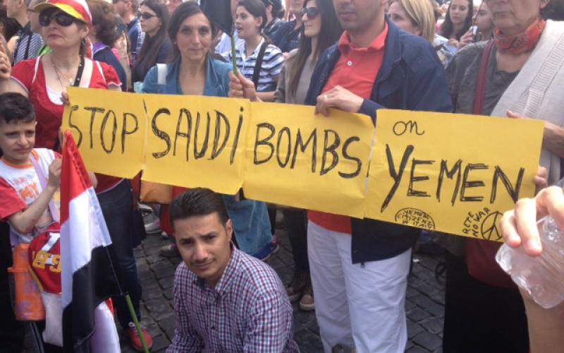 "VATICAN, 19-VI: ""STOP SAUDI BOMBING ON YEMEN"""