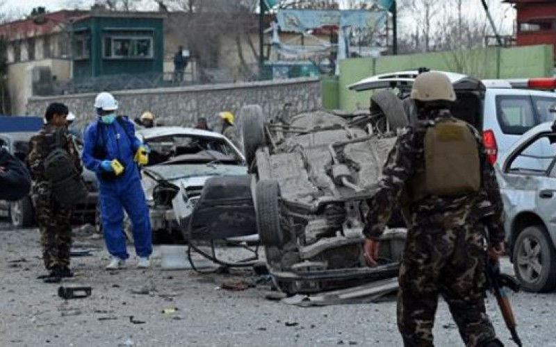 Bomb goes off near Afghan parliament in Kabul, at least three soldiers wounded