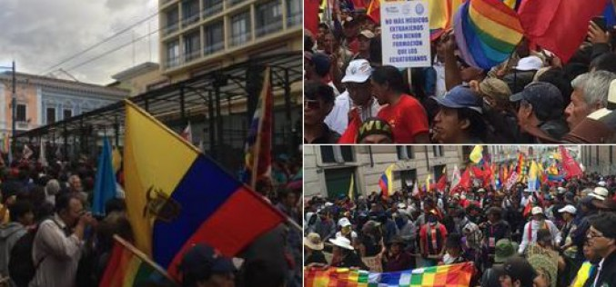 Indigenous communities lead anti-government protests in Ecuador