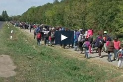 Thousands of migrants pour into Austria- video