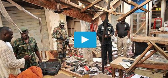 Nigeria : Many victims in suicide bomb blasts -vidéo