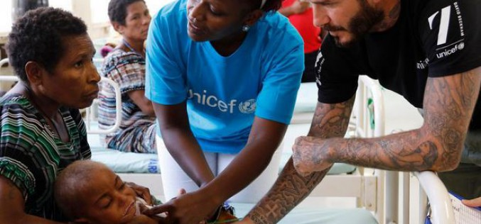 Papua New Guinea : UNICEF Goodwill Ambassador David Beckham's Fund helps children