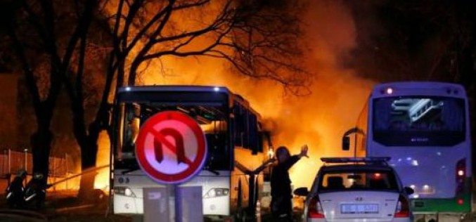 Turkish: at least 28 dead as car bomb targets military in Ankara