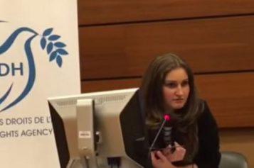 """War and Impunity in Yémen"" HRC33-Anastasia Popova Bourt, war reporter in Yémen for Russia 24"