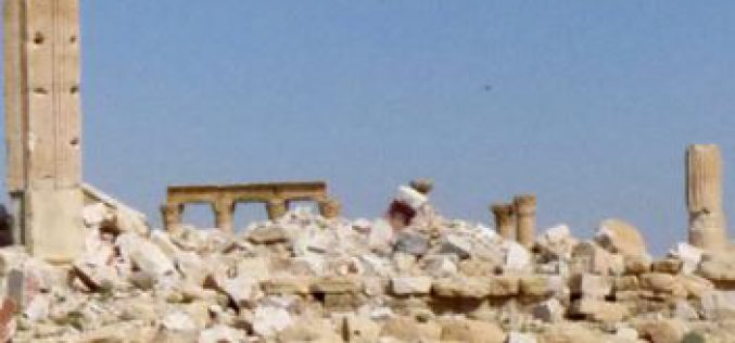 Syria: historical monuments including Palmyra, disfigured by war